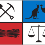 Diggers' Monster Meeting flag.